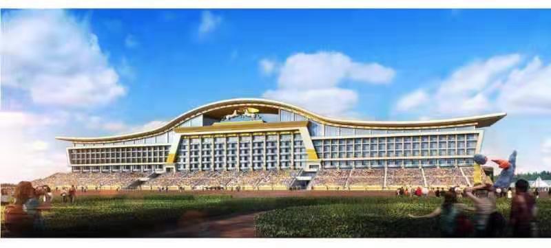 科尔沁马城工程(那达慕文化园)—赛事大楼工程施工